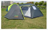 Четырехместная двухслойная кемпинговая палатка Green Camp 1009