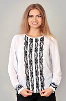 Блуза для девочки-подростка с кружевными вставками 210-2