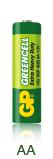 Батарейка солевая GP greencell R-6 AA