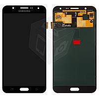 Дисплейный модуль (дисплей + сенсор) для Samsung Galaxy J7 J700F / J700H / J700M, черный, оригинал