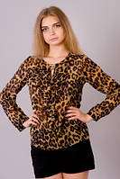 Шифоновая подростковая блузка Жабо 211