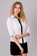 Стильная молодежная белая блузка 228