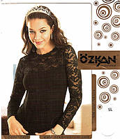 Гипюровая женская водолазка Ozkan