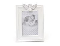 Фоторамка с ангелом бел. 16*21,5 см