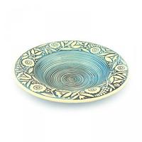 Керамика Веночек Тарелка для супа 21 см голубая