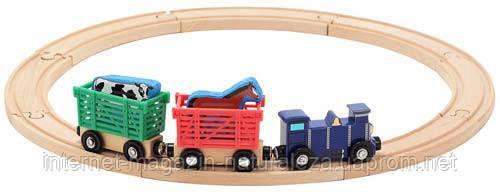 Деревянный набор ТМ Melissa&Doug Поезд с животными
