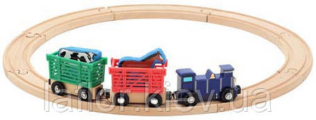 Деревянный набор ТМ Melissa&Doug Поезд с животными, фото 2