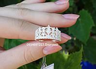 Кольцо из серебра Стильная корона, фото 1