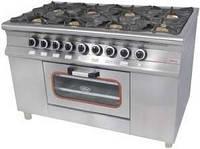 Газовая плита Pimak МО15-8 8-ми конфорочная с духовым шкафом