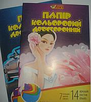 Бумага Цветная А4 2-х сторон. 14л. 50909-ТК Tiki