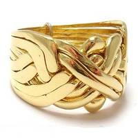 Золотое кольцо подарки для мужчин Wicker Ring