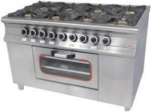 Плита Pimak МО15-8 8-ми конфорочная с духовым шкафом и газовым контроллером