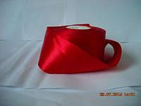Лента атласная 5см № 26 красный, длина 33м