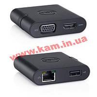 Адаптер Dell DA200 USB-C to HDMI/ VGA/ Ethernet/ USB 3.0 (470-ABRY)