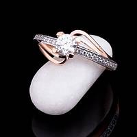 Золотое помолвочное кольцо солитер, 585 пробы