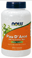 Пау де арко, Now Foods, Pau D Arco, 500 mg, 250 Caps