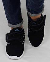 Кроссовки Wonex женские черные с синими полосками , фото 1