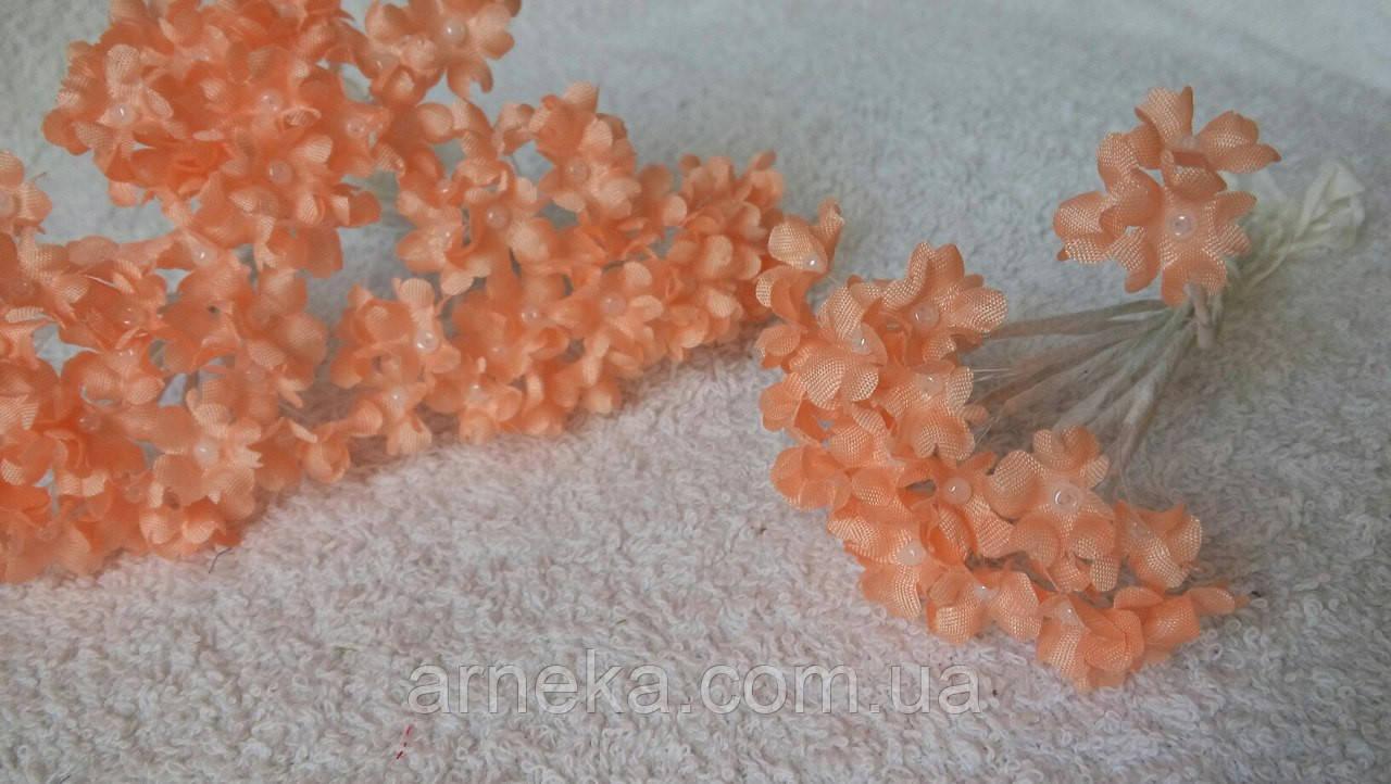 Цветы яблони (10 веточек) персиковые