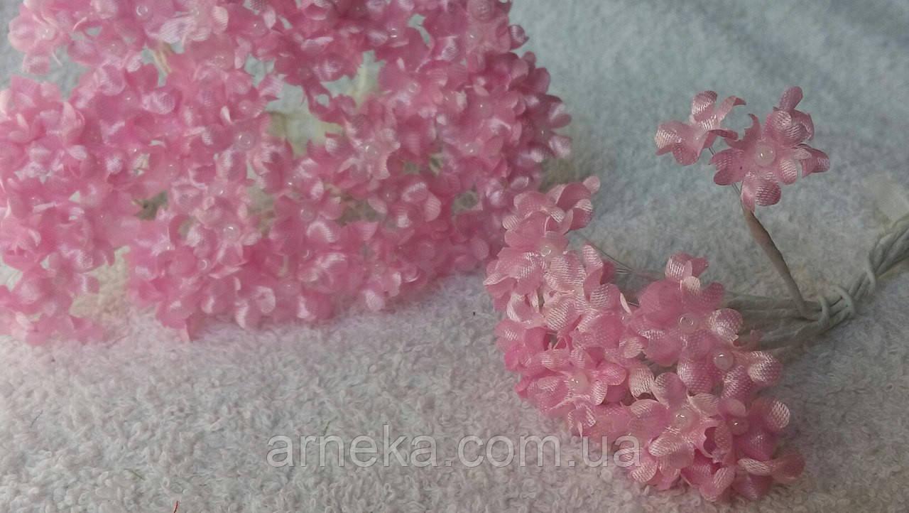 Цветы яблони (10 веточек) розовые