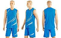 Форма баскетбол. мужск. без номера CO-3868-B (PL, р-р M-XL, голубой)
