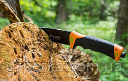Нож с фиксированным клинком и огнивом Ganzo G8012-OR, фото 2