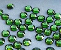 Стразы ДМС (DMC) горячей фиксации, стекло,  4мм, 40 шт., цвет зеленый