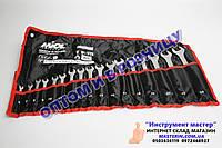 Набор ключей рожково-накидных CRV 17 шт, (6-24мм) в брезенте, MIOL арт.51-716
