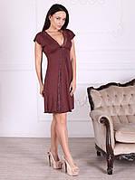 Сорочка вискозная красивого шоколадного цвета 284 Роксана