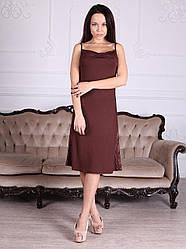 Сорочка вискозная красивого шоколадного цвета 485 Роксана