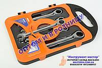 Набор ключей рожково-накидных с трещоткой 5шт. (10-17мм) MIOL арт.52-250