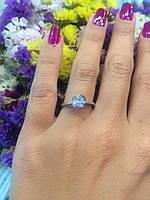 Помолвочное кольцо солитер Роза из белого золота, 585 пробы