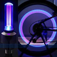 Неоновая подсветка  колес на ниппель, золотник. Фиолетовая.