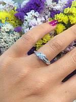 Помолвочное кольцо солитер из белого золота, 585 пробы