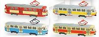 Трамвай металлический коллекционный автопром 6411abcd кк