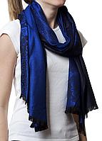 Палантин с узором синий (83002), фото 1
