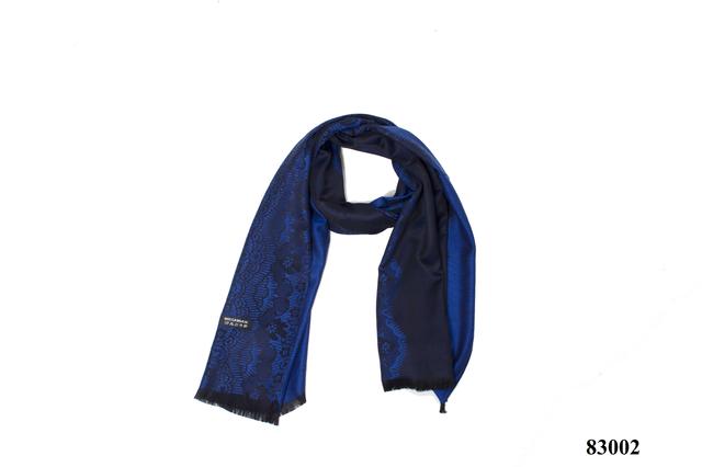 Палантин с узором синий (83002) 3