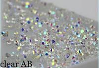 Хрустальная крошка для ногтей / Crystal Pixie, Clear АВ 300 шт