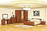 Кровать двухспальная 160 Даллас (Мебель-Сервис)  2045х1800х795мм каштан, фото 3