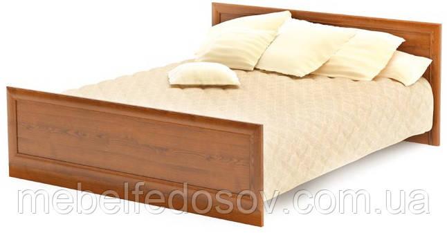 Кровать двухспальная 160 Даллас (Мебель-Сервис)  2045х1800х795мм каштан