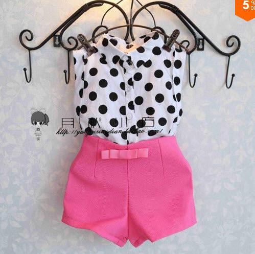 Комплект блуза и шорты (малин) 120