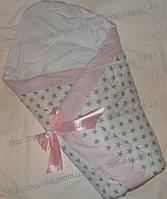 Конверт на выписку одеяло детское трансформер осень зима бязь хлопок 90х90