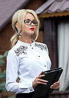 Роскошная Белая Блуза с Узорами на Спине M-2XL