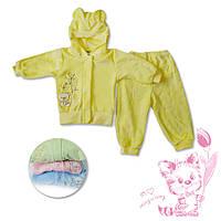 Велюровый костюм детский для девочки ТМ Фламинго цвет жёлтый