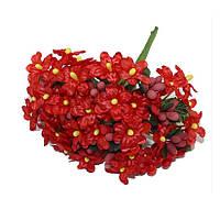 Фиалки Красные 2 см диаметр Декоративный букетик 6 шт/уп