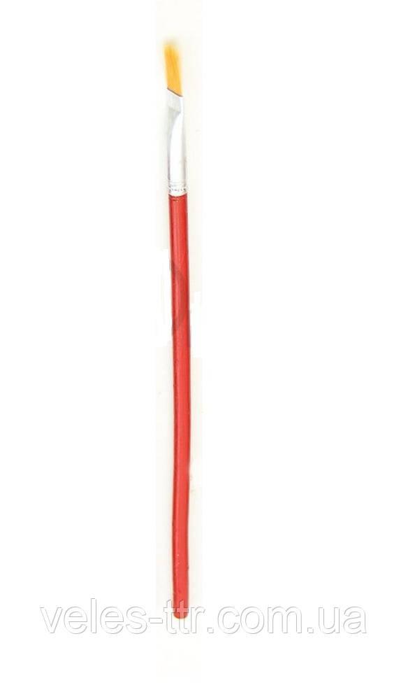 Кисть синтетика плоская №2 Красная ручка