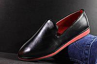 Черные женские туфли на красной подошве