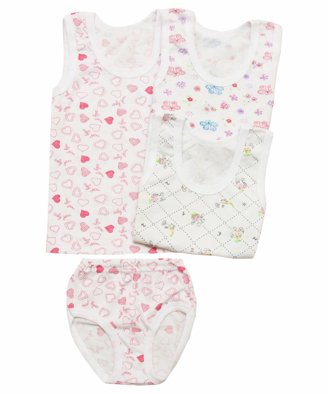 Комплект нижнего белья для девочки Бабочка оптом, фото 1