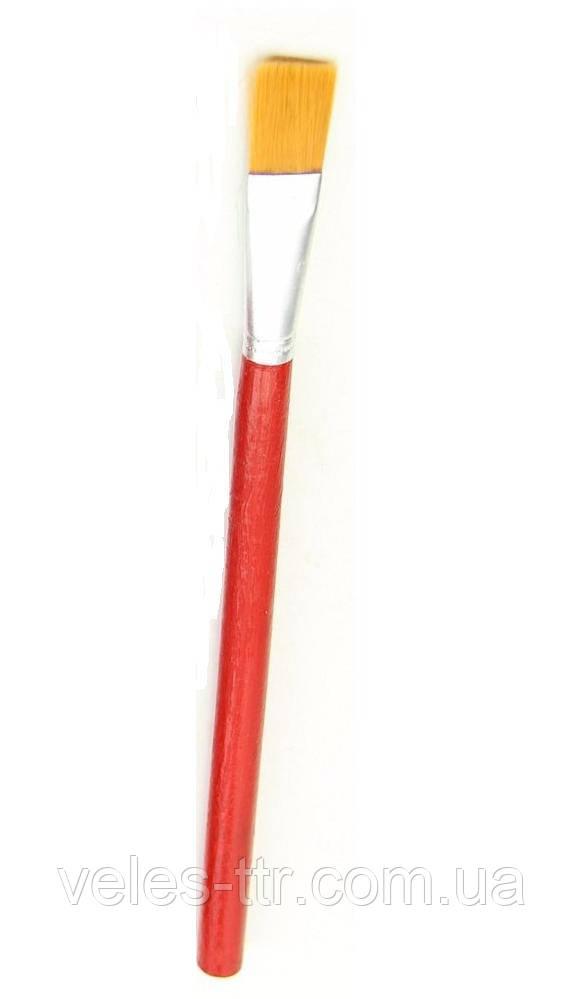 Кисть синтетика плоская №12 Красная ручка