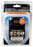 Автоматическая, универсальная зарядка для Li-ion/ Li-pol, Ni-MH/ Ni-Cd аккумуляторов ROBITON SmartCharger Plus