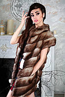 """Жилет из светлой  куницы """"Лиза""""  marten fur vest gilet, фото 1"""